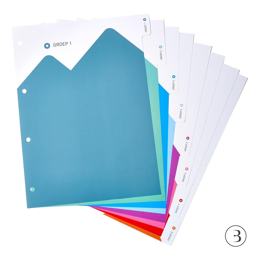 Bellea tabbladen voor schoolmap